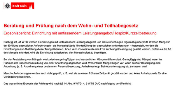 WTG-Prüfung Luise-Maassen-Haus 2018